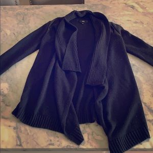 Mossimo Cardigan sweater with leather accent